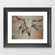 Longhorn Framed Art Print