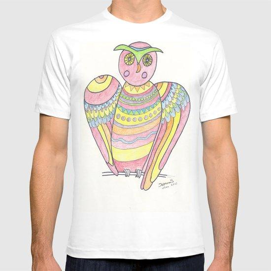 Owl hand drawing T-shirt