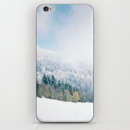 White Forest - French Alps iPhone Skin