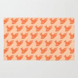 Allergic to Nuts - Origami Orange Squirrel Rug