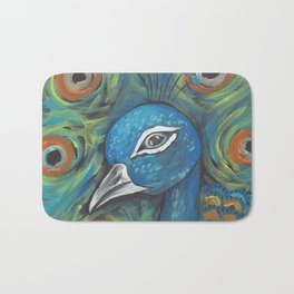 Peacock Head Bath Mat