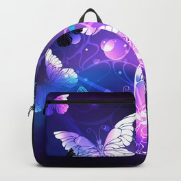 Background with Night Butterflies Backpack