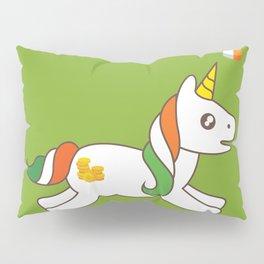 St. Patrick's Day Unicorn 3 Pillow Sham