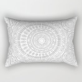 Untitled II (white on white) Rectangular Pillow