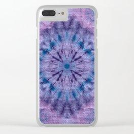 Purple Tie Dye Clear iPhone Case