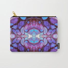 Purple and Pink Kaleidoscope Art Design Carry-All Pouch