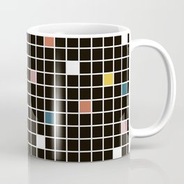 Pastel Memphis Candy Grid Coffee Mug