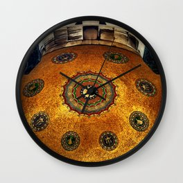 Gold Dome Wall Clock
