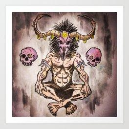 Devil's eyes Art Print
