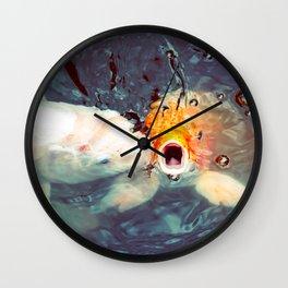 Koi Closeups #1 - Fish Kiss Wall Clock