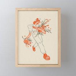 Flower Market Stroll Illustration | Alex Gold Studios Framed Mini Art Print