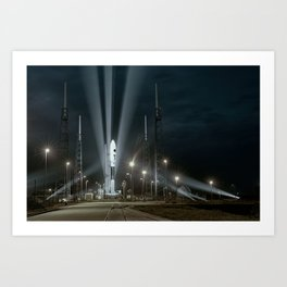 Why Do Rockets Launch At Night Art Print