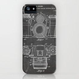 Camera Patent - Photography Art - Black Chalkboard iPhone Case