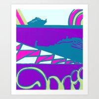 dalek Art Prints featuring Dalek by Elina Diaz