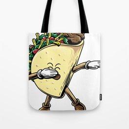 Dabbing Taco Shirt Taco Lover Dab Pose Taco Tote Bag