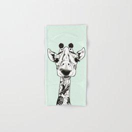 Giraffe Tattooed Hand & Bath Towel
