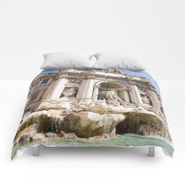 trevi fountain in rome Comforters
