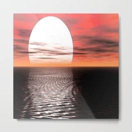 Sunset Moon Dreams Metal Print