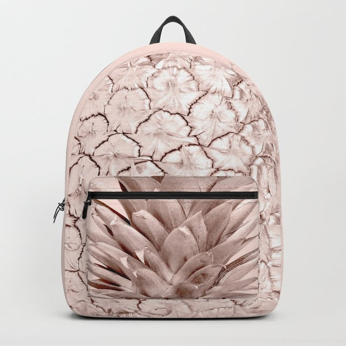 Pink Gold Pineapple Backpack
