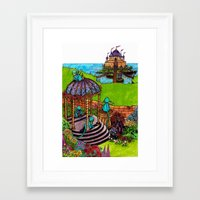 monkey island Framed Art Prints featuring Monkey Island by Charlie L'amour