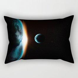 Earth Eclipse Rectangular Pillow