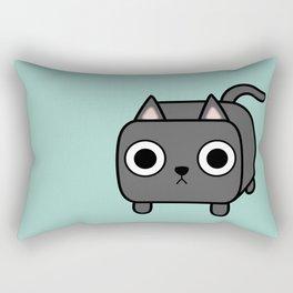 Cat Loaf - Grey Kitty Rectangular Pillow