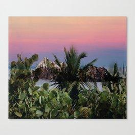 Tropical d'hiver Canvas Print