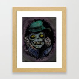 Hatbox Ghost (portrait) Framed Art Print