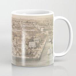 Vintage Pictorial Map of Charleston SC (1851) Coffee Mug