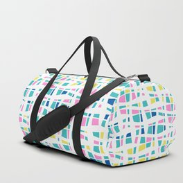 Colorful Preppy Abstract Line Art Duffle Bag
