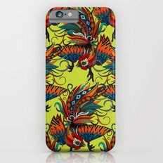 rooster ink chartreuse iPhone 6s Slim Case