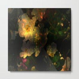Frightening Glow in the Flowers Metal Print