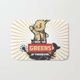 Seize the GREENS of production Bath Mat