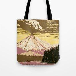 Lassen Volcanic National Park (U.S. National Park Service) - Vintage Poster Tote Bag