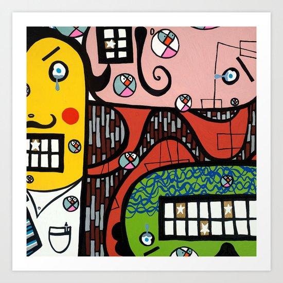 the UNCSCRUPULOUS NONSENSICAL IRREPRESSIBLY INFINITESIMAL INFESTATION of GREED Art Print