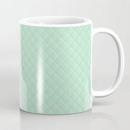 Summermint Pastel Green Mint Puffy Quilt Coffee Mug