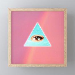 Eye see You (Pink) Framed Mini Art Print