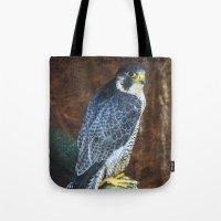 falcon Tote Bags featuring Falcon by Veronika