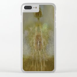 Teasel and Tickseed Clear iPhone Case
