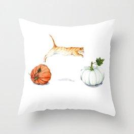 Fall Acrobatics Throw Pillow