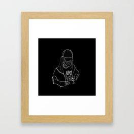 Croissant Face Framed Art Print
