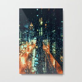 It's raining on the streets of New York City Metal Print