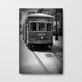 Canal Street Trolley Metal Print