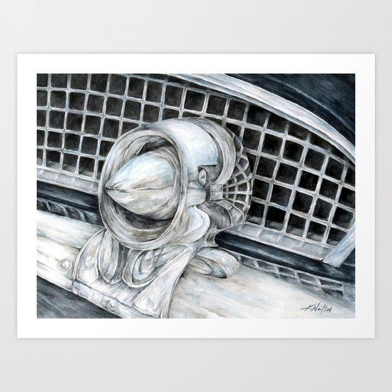 55 Thunderbird Classic Car Art Print
