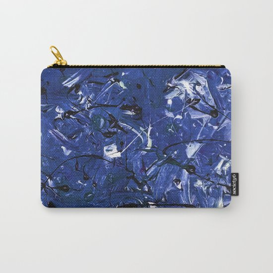 Abstract #350 Blue Chaos Carry-All Pouch