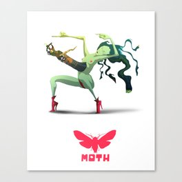 Moth Nv Canvas Print