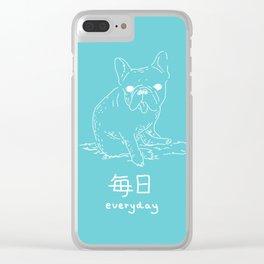 French Bulldog (mainichi) Clear iPhone Case