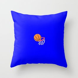 Basketball emoji on internet blue Throw Pillow