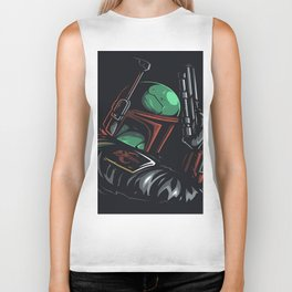 Boba Fett - BEST HUNTER FOR GALAXY HEADS Biker Tank