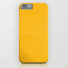 Sun Drenched Honey Mustard - Subtle Brush Texture iPhone Case